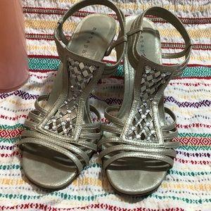 Metaphor heels gold/silver metallic
